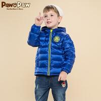 【2件2.5折 到手价:175】Pawinpaw宝英宝卡通小熊童装冬季款男童轻薄羽绒服