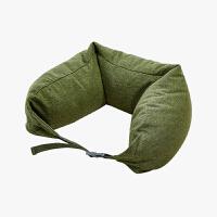 当当优品家纺 纯棉针织U枕 旅行枕午睡颈枕腰枕 草绿