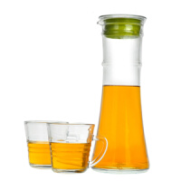 Glasslock凉白开水杯扎壶透明水瓶1000ml 三光云彩玻璃欧式大容量冷水壶扎壶晾