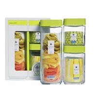 Glasslock 三光云彩密封罐玻璃储物罐玻璃瓶糖果罐带盖家用收纳杂粮储物罐IG589