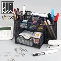 笔筒创意时尚办公用品学生用收纳盒简约笔桶大容量桌面文具