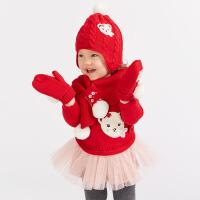 davebella戴维贝拉女童2018秋装新款针织连衣裙宝宝公主裙DBJ7862