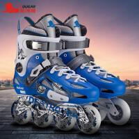 男女滑鞋初学者溜冰鞋直排轮夜光花式轮滑鞋