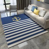 蓝色地中海风格地毯北欧小清新现代简约客厅沙发地毯卧室茶几地毯 200C x 300C