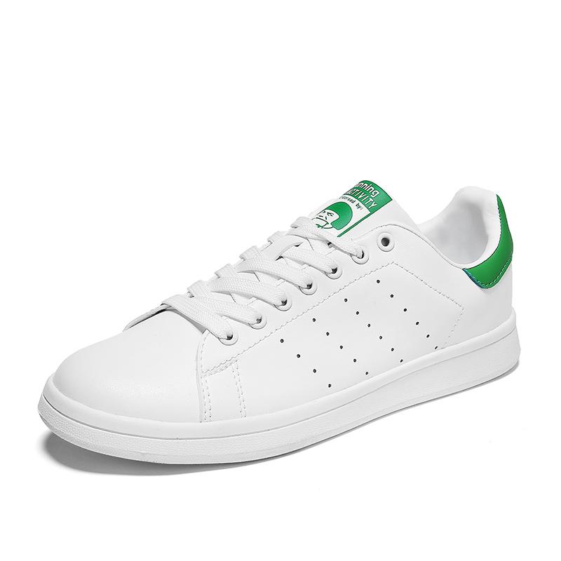 西瑞新款情侣款板鞋男士绿尾鞋女款小白鞋青年潮鞋MLD-WK862百搭小白鞋,休闲户外