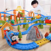 儿童电动玩具男孩3-4-5-6岁小火车套装多层轨道车玩具