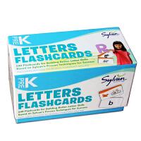 英文原版 美国学前字母单词卡片240张 Sylvan Learning Pre-K Letters Flashcard