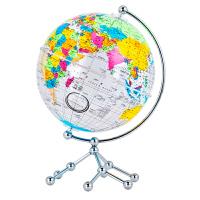 博目 20cm中英文彩色政区透明地球仪 办公用品文具教具 儿童玩具 创意礼品 办公书房装饰