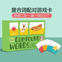 【全店300减100】复合词配对游戏卡(1盒 80词)Compound Words Game Match 英文原版进口