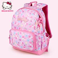 Hello Kitty凯蒂猫 KT1075A粉紫 护脊儿童书包小学生书包女幼儿园背包 当当自营