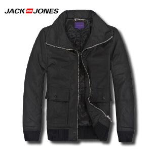 杰克琼斯秋冬季男士商务修身翻领百搭外套19-5-1-211422030010