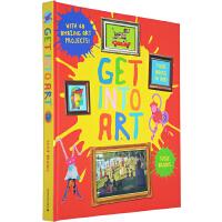走进艺术系列 英文原版 Get Into Art 精装翻翻书合辑 中小学STEM课外用书 苏西・布鲁克斯
