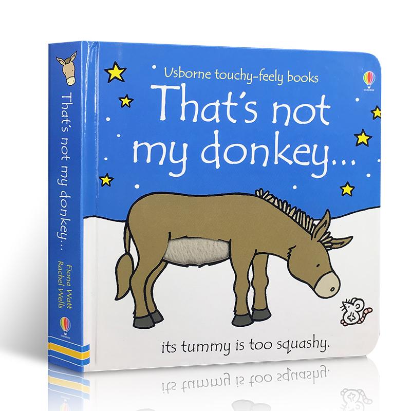 英文原版 That's Not My Donkey 那不是我的驴 幼儿启蒙撕不烂纸板书 Usborne出版社 启蒙阅读 经典触摸书启蒙亲子阅读