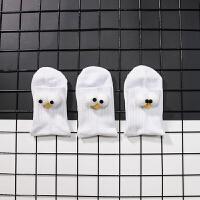 【内衣优选】男士 3双装中筒袜抖音同款大眼睛3d立体个性潮流纯棉可爱卡通袜子 均码