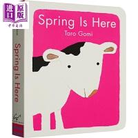 【中商原版】Taro Gomi:Spring Is Here 五味太郎:春天来了 低幼亲子认知启蒙绘本 四季主题 纸板书
