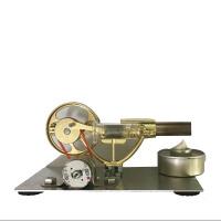 迷你斯特林发动机微型模型蒸汽动力技科学小制作小发电明实验玩具 卧式金属款