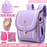 日本书包小学生女孩1-3年级儿童书包6-12周岁女生双肩包减负防水4 背包加补习袋