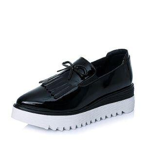 BASTO/百思图专柜同款漆PU革女单鞋TWU24CM6