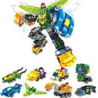 兼容乐高积木梦想三国合体机器人儿童拼装变形金刚男孩子组装玩具 梦想三国合体机器人