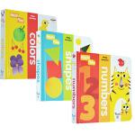 英文原版 Twirl Fold-a-Flap Numbers 3册 纸板翻翻书 数字反义词颜色形状