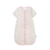 婴儿短袖夏季睡袋 女宝纱布拉链睡袋