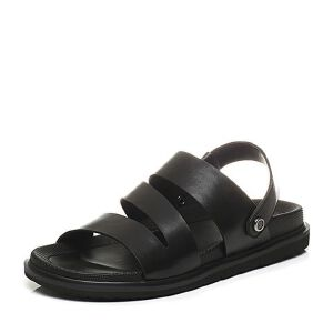 Belle/百丽2017夏季专柜同款牛皮休闲舒适男凉鞋沙滩鞋4VT01BL7
