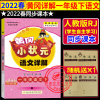 黄冈小状元详解一年级下语文下册R人教版部编版2020春