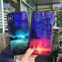 苹果7手机壳iPhone6蓝光玻璃壳8plus软边套6sp创意x个性新款男女