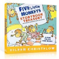 【全店300减100】英文原版书绘本 Five Little Monkeys 五只猴子5个故事精装合集 廖彩杏书单畅销4