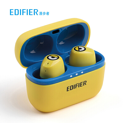 Edifier/漫步者 W3小黄人真无线蓝牙耳机双耳迷你运动跑步防水通话入耳式通用