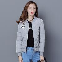 慈姑冬季新款棉衣女短款修身显瘦学生棒球服大码加厚嘲小棉袄 M 80---95