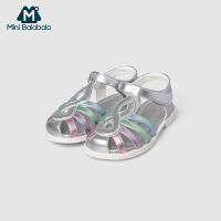 【2件3.8折】迷你巴拉巴拉儿童女凉鞋2019夏新款童虹宝宝软底包头鞋凉鞋休闲鞋
