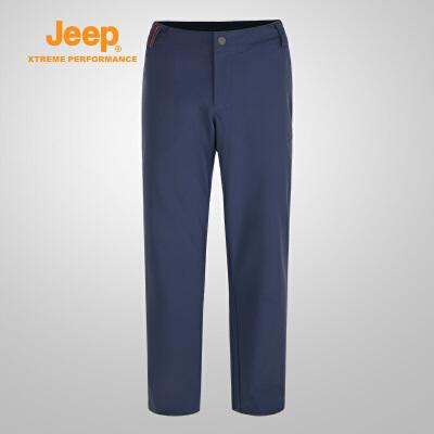 【特惠价】Jeep/吉普 男士户外舒适保暖登山冲锋徒步裤J732093801 弹性松紧 舒适保暖 防风透气