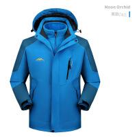冲锋衣男三合一冬季加绒加厚可拆卸两件套登山服女户外防风衣潮牌