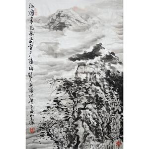 中国美协理事、山东美协主席 张志民 山水《孤烟寒色树》