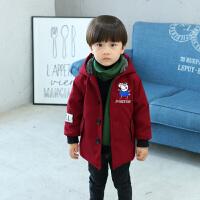 冬季男童呢子冬装外套儿童毛呢大衣新款秋冬宝宝洋气加厚保暖上衣秋冬新款