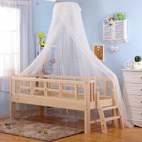 婴儿床蚊帐带支架婴儿床上蚊帐宝宝蚊帐儿童床蚊帐少年床蚊帐通用 蕾丝提花款白色蚊帐+落地支架 床长170cm以下