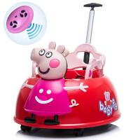 新款小猪儿童电动车婴幼宝宝早教摇摆童车遥控四轮可坐人汽车小孩玩具车男女宝宝时尚推车