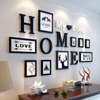 现代简约字母相框创意挂墙连体组合10寸7寸5寸像框相架画框相片框 全套组合