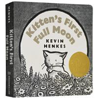 获奖英文原版绘本 Kitten's First Full Moon 小猫咪追月亮 凯迪克金奖 绘本大师凯文汉克斯 常青
