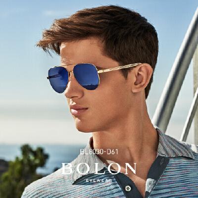 BOLON暴龙2018新款复古蛤蟆镜男金属框太阳镜个性墨镜眼镜BL8030