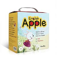 顺丰包邮 英文原版绘本 Apple English苹果英语 送音频 零基础入门启蒙低幼儿童点读童书10册盒装 支持小达