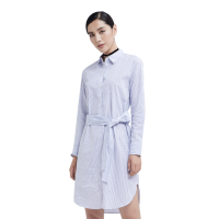 【网易严选 顺丰配送】女式条纹全棉连衣裙
