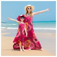 夏2018新品子装母女装连衣裙女童海边度假长裙子波西米亚沙滩裙