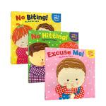 凯伦卡茨 Karen Katz宝宝爱的系列3册 No Biting / Excuse Me! / No Hitting
