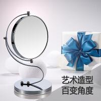 镜子 台式便携梳妆镜化妆镜桌面7寸双面可旋转高清公主镜美容镜生日礼物送女友老婆闺蜜