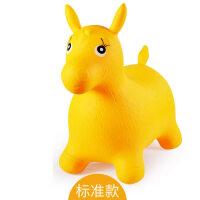 儿童充气玩具音乐跳跳马户外加大加厚户外骑马坐骑小马宝宝跳跳马 黄色标准款