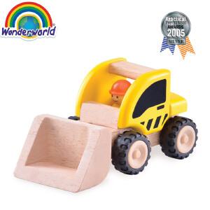 [当当自营]泰国Wonderworld 小小推土机 仿真木质玩具车