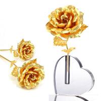 梦克拉 玫瑰花工艺摆件 创意生日情人礼物 带底座