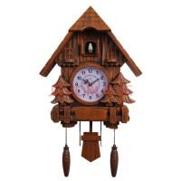 佩奇同款客厅布谷鸟挂钟创意儿童欧式摇摆智能报时钟现代咕咕闹钟 20英寸